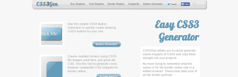 6 Best Usefull and Powerfull  CSS3 Generator