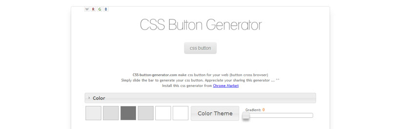 Awesome CSS3 Button Generator