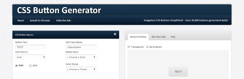 Awesome CSS Button Generator