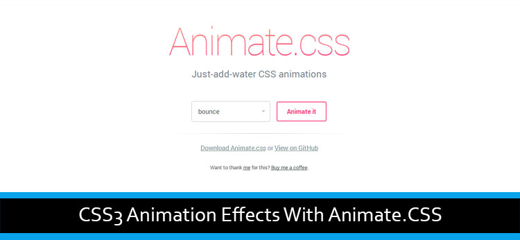 CSS3 Animation Effects With Animate.CSS