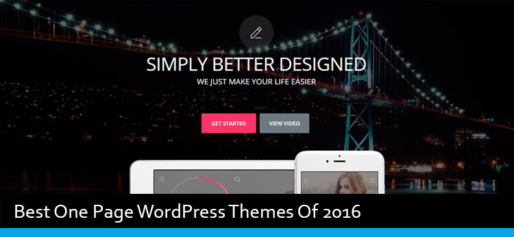 50 Best One Page WordPress Themes Of 2017