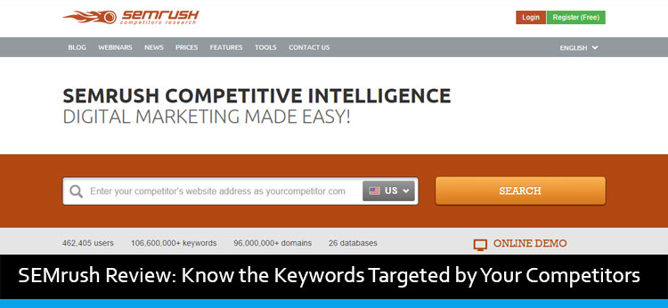 SEMrush Review: Know the Keywords Targeted by Your Competitors