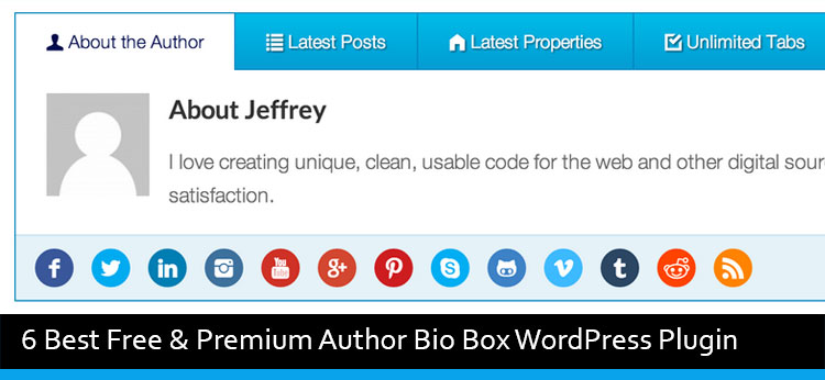 6 Best Free & Premium Author Bio Box WordPress Plugin Of 2017