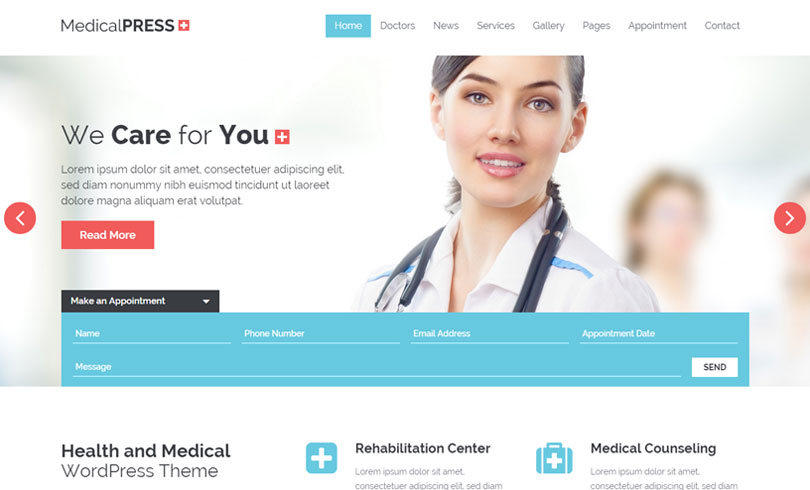 31 best health and medical wordpress themes of 2017 - modern wp themes, Skeleton