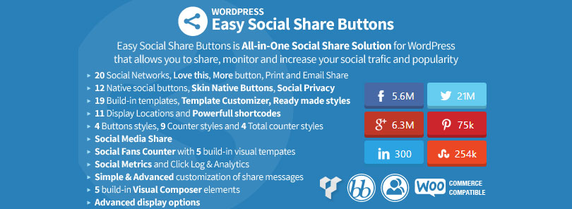 Awesome WordPress Social Media Counter Plugin