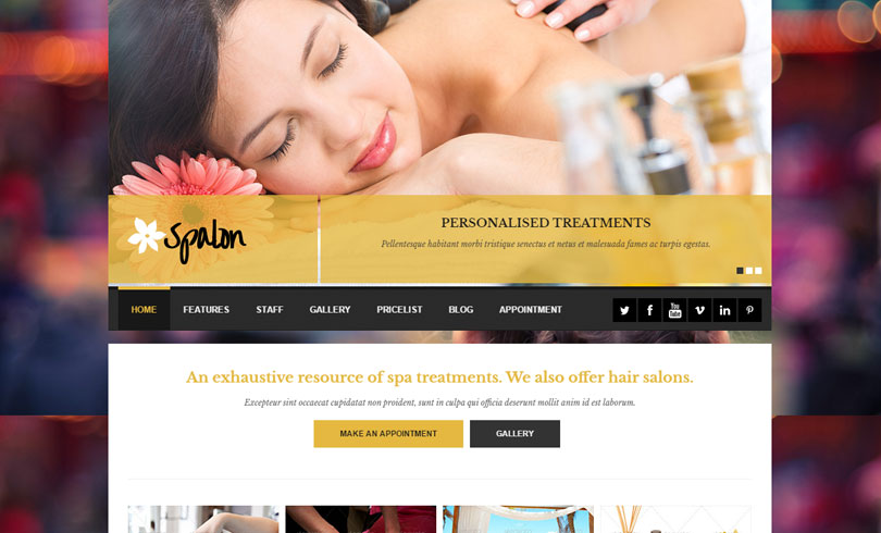Best Spa And Beauty Salon WordPress Theme