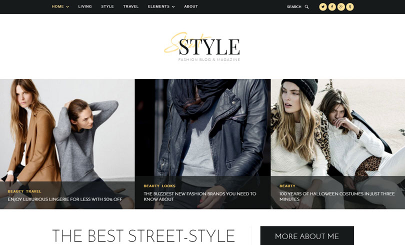 15 best wordpress themes for fashion blog of 2017 modern