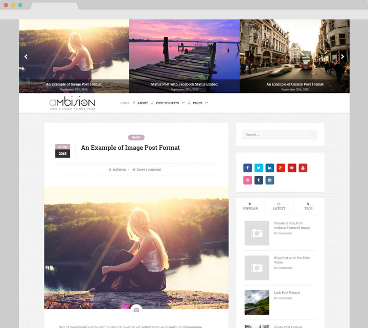 Ambision WordPress Blog Theme