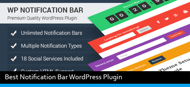 3 Best Notification Bar WordPress Plugin Of 2017