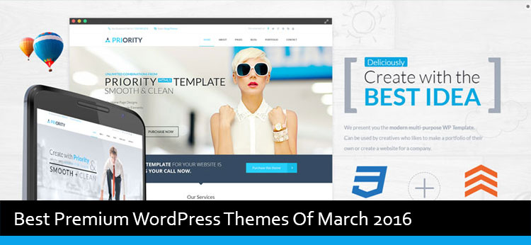 15 Best Premium WordPress Themes Of March 2016