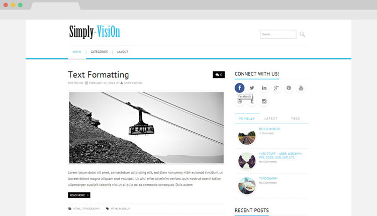 Simply-VisiOn Wordpress Theme