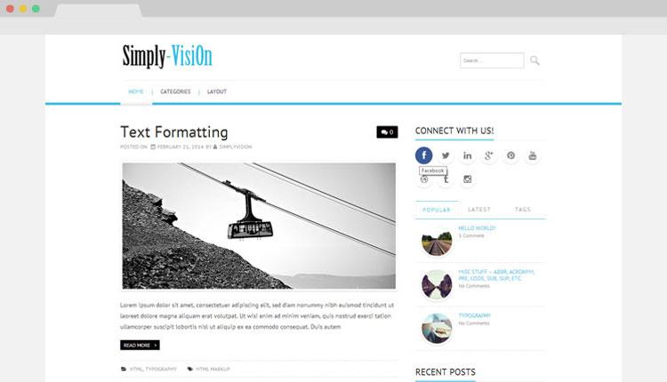 Simply-VisiOn Wordpress Theme