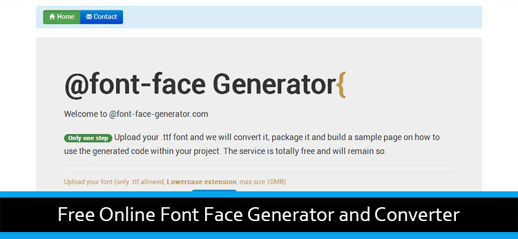 Free Online Font Face Generator And Converter