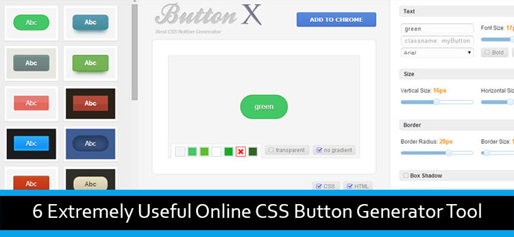 6 Extremely Useful Online CSS Button Generator Tool