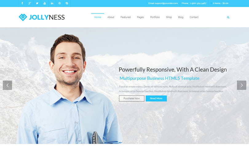 74 best wordpress business themes of 2014 modern wp themes best wordpress business theme of 2014 cheaphphosting Image collections