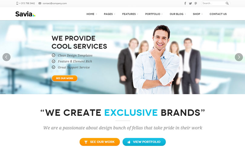 74 best wordpress business themes of 2014 modern wp themes best wordpress business theme of 2014 accmission Images