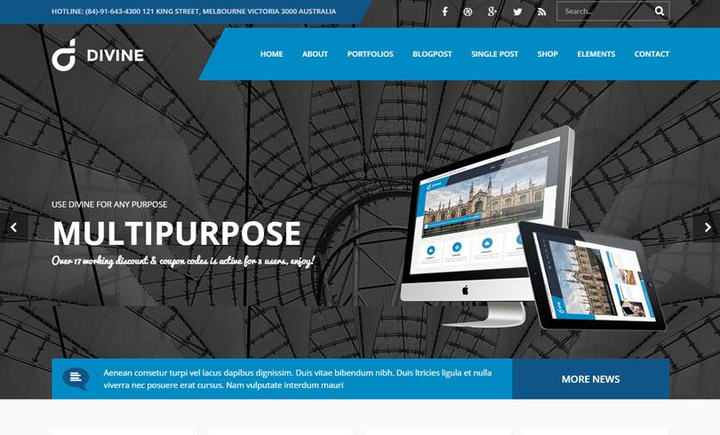 74 Best WordPress Business Themes Of 2014 - Modern WP Themes
