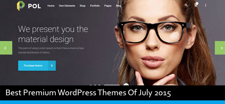 28 Best Premium WordPress Themes Of July 2015