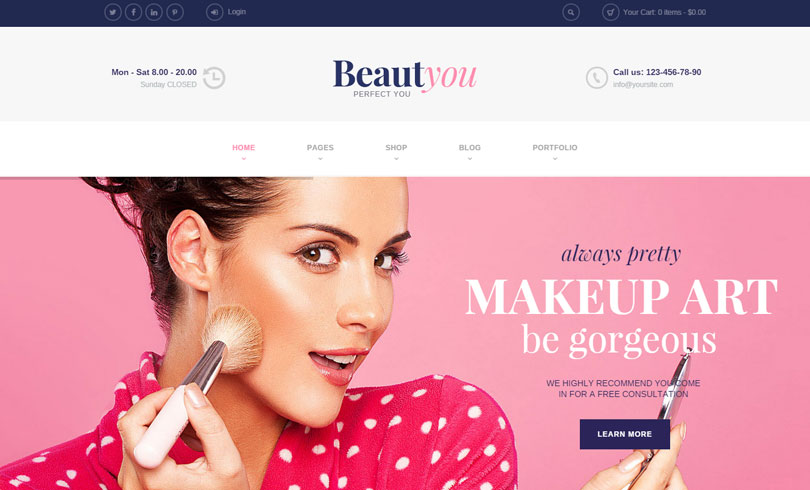 16 best spa and beauty salon wordpress themes of 2017 for A 1 beauty salon