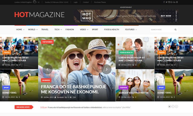 18 Best Premium WordPress Themes Of February 2016 - Modern WP Themes