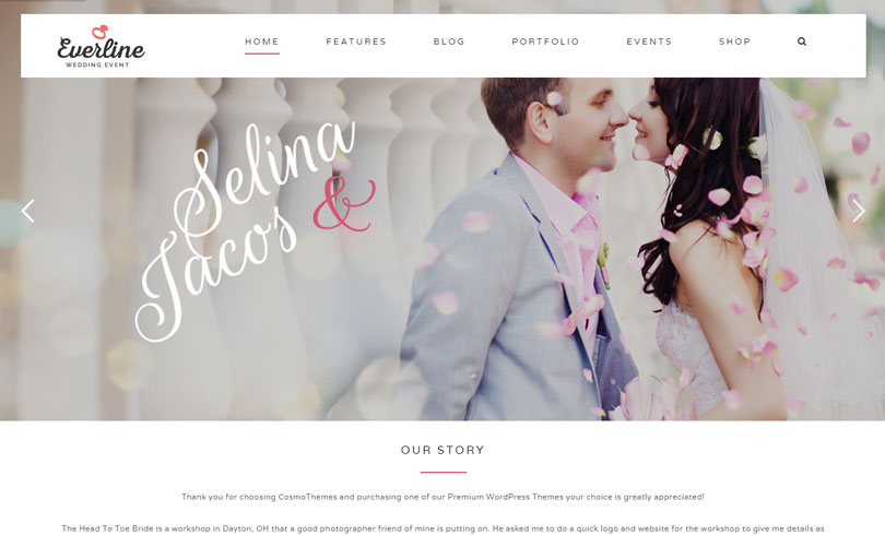 best wedding themes wordpress 10 best wedding themes of 2017 modern wp themes 27861