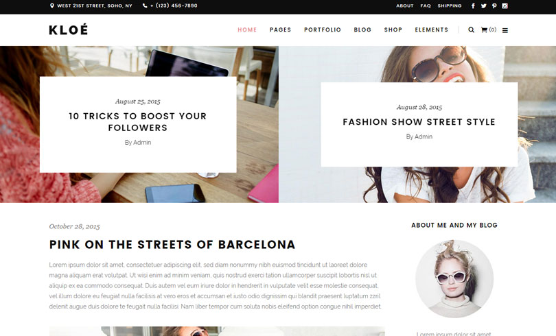 15 Best WordPress Themes For Fashion Blog Of 2018 - Modern WP Themes