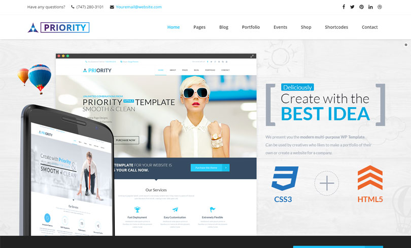 15 best premium wordpress themes of march 2016 modern wp for Mobilia wordpress theme