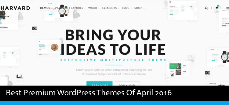 20 Best Premium WordPress Themes Of April 2016