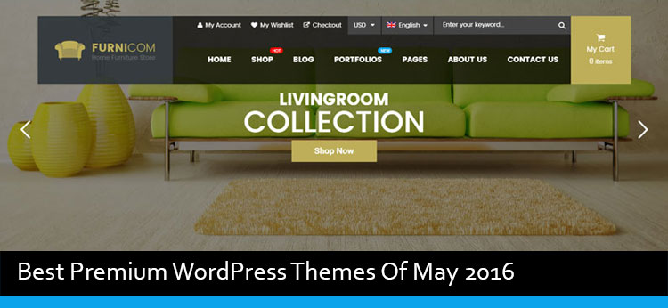 20 Best Premium WordPress Themes Of May 2016