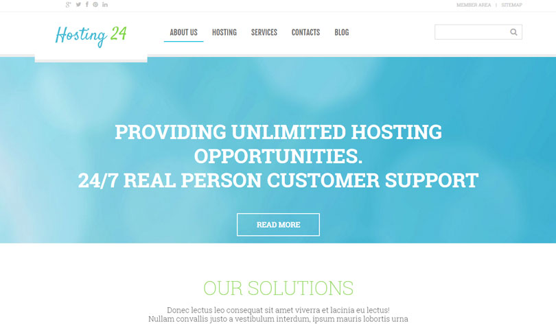 Best Web Hosting WordPress Themes