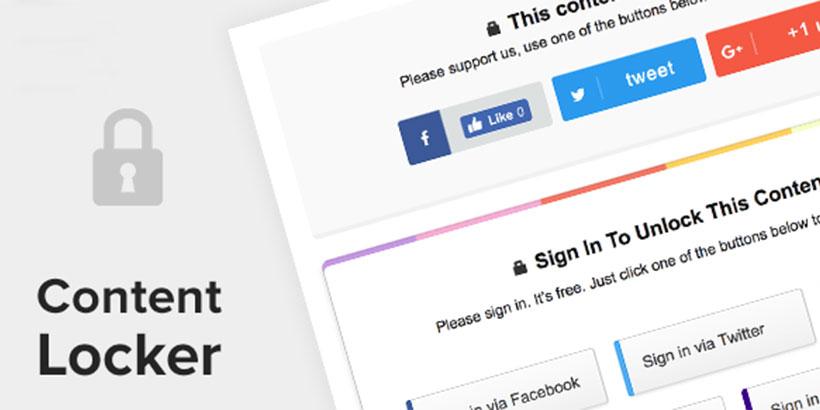 Best Social Content Locker WordPress Plugins
